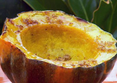 Baked Acorn Squash with Brown Sugar and Butter