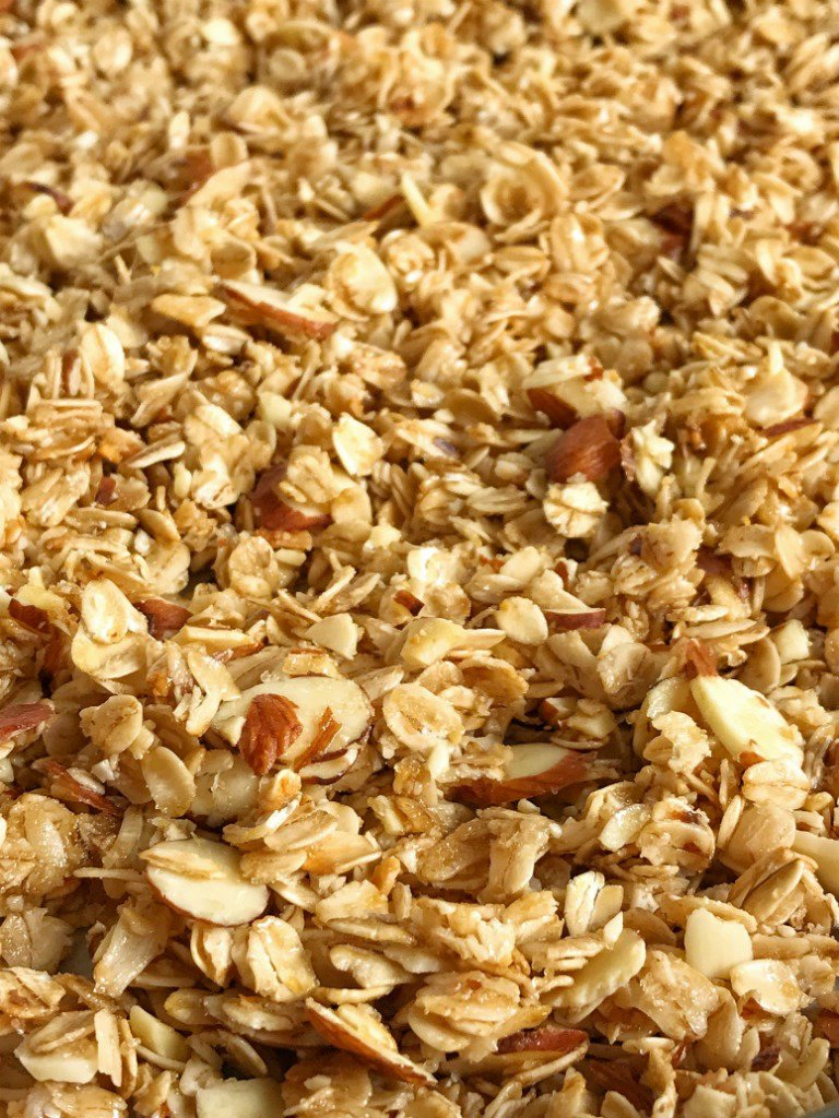 Coconut Oil Honey Almond Granola