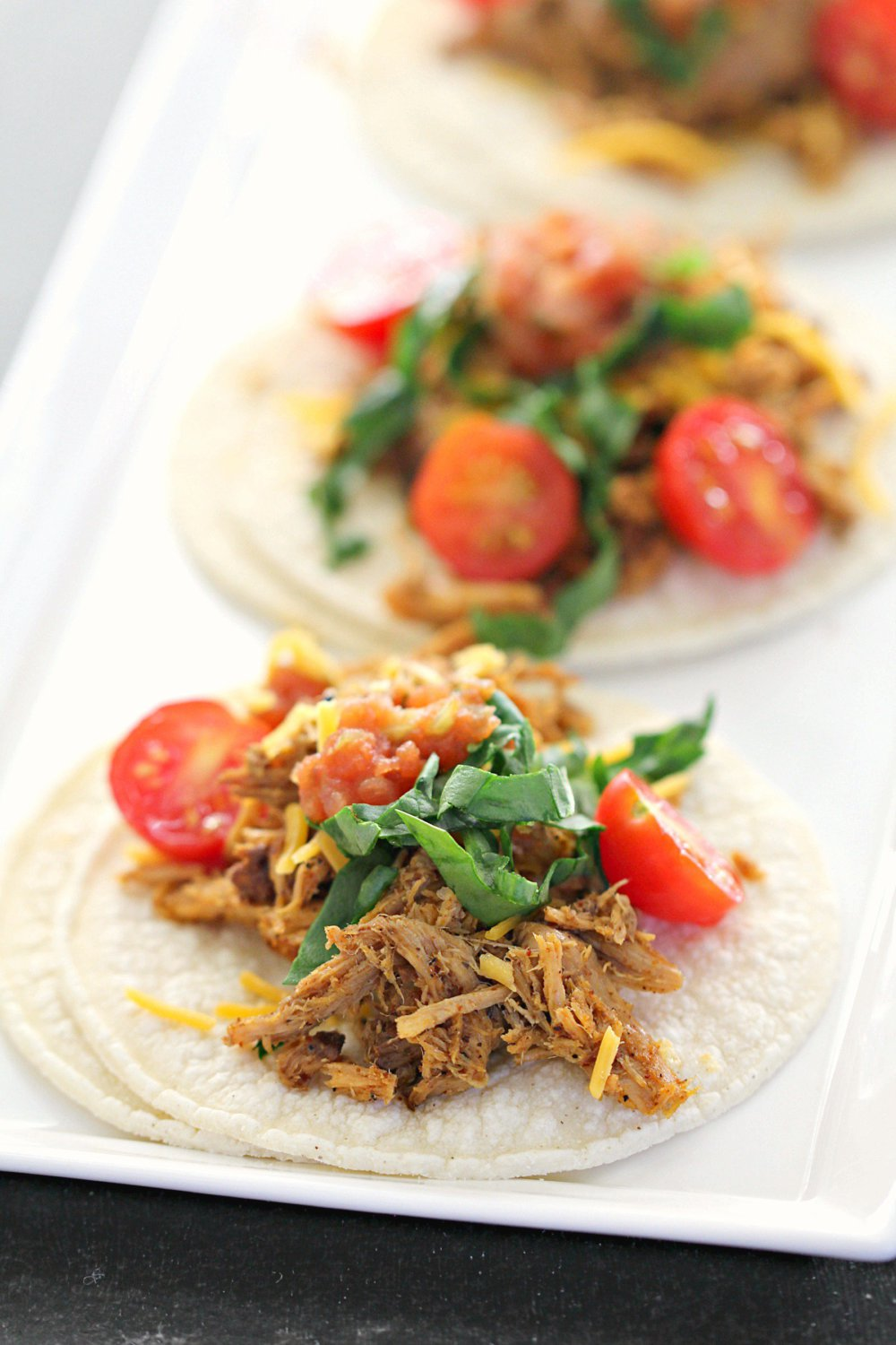 Slow Cooker Shredded Mexican Chicken Street Tacos