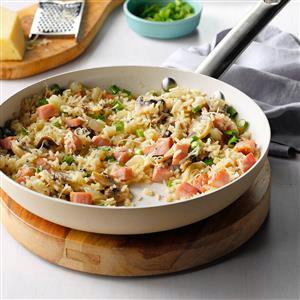 Skillet Ham & Rice Recipe