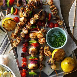 Spicy Lemon Chicken Kabobs Recipe