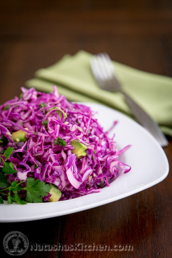 Red Cabbage and Avocado Salad Recipe