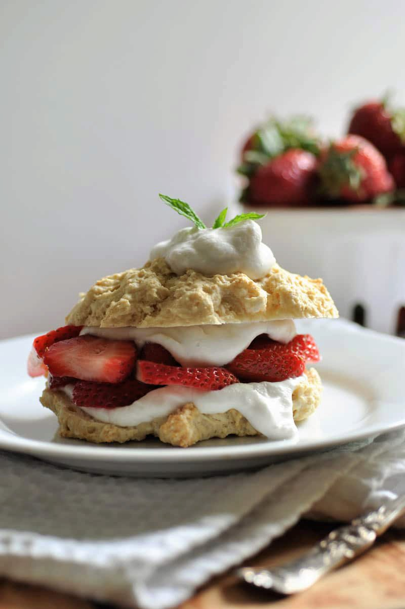 Vegan Strawberry Shortcake with Coconut Whip