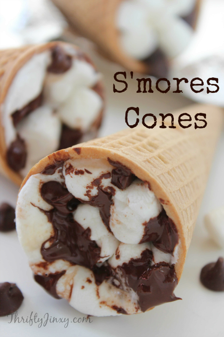 Camping S'mores Cones Recipe – Perfect  for Campfire, BBQ Grill or Oven