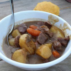 Camping Cast Iron Dutch Oven Beef Stew