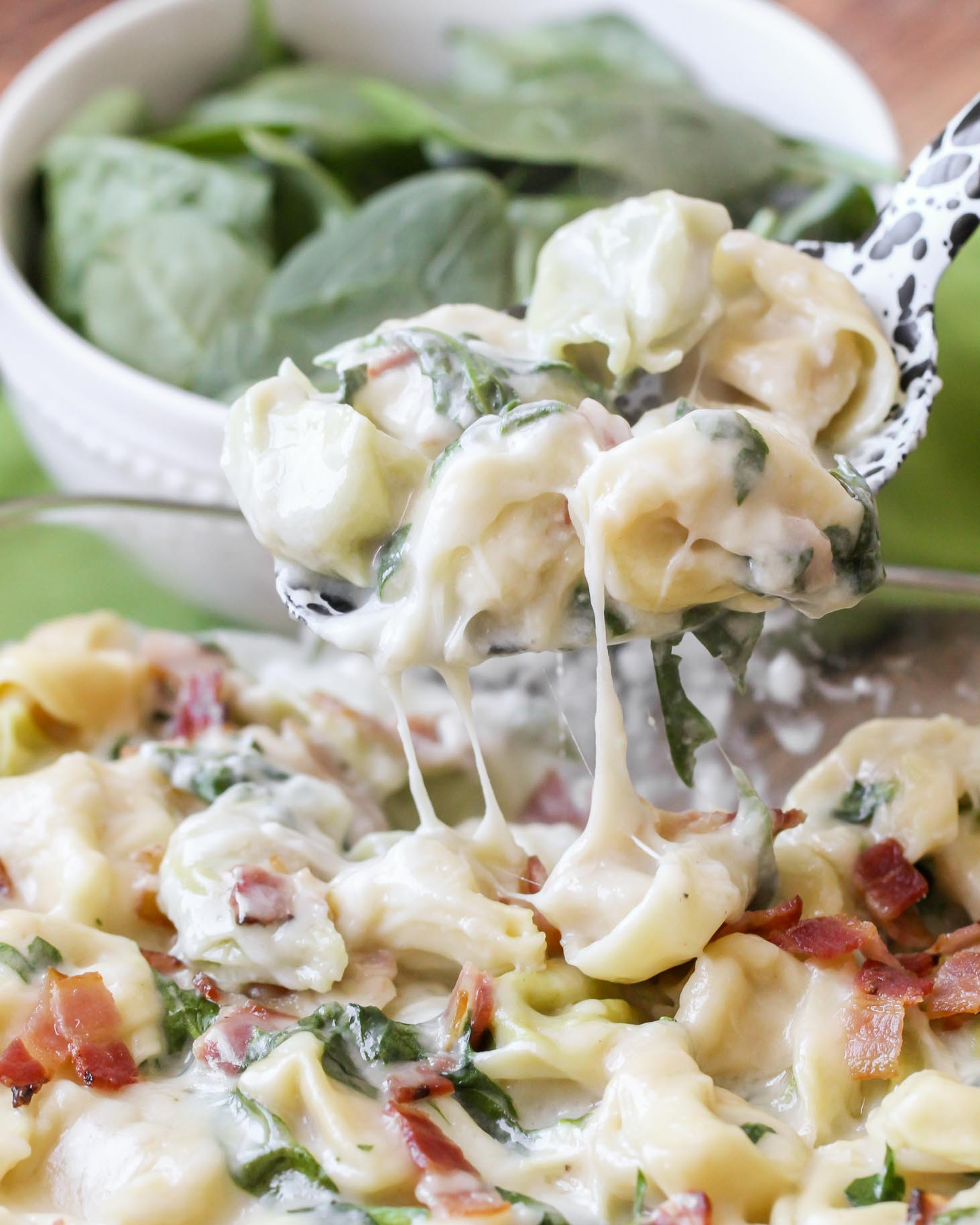 Cheesy Baked Tortellini recipe