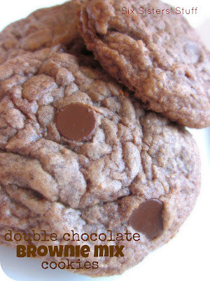 Double Chocolate Brownie Mix Cookies