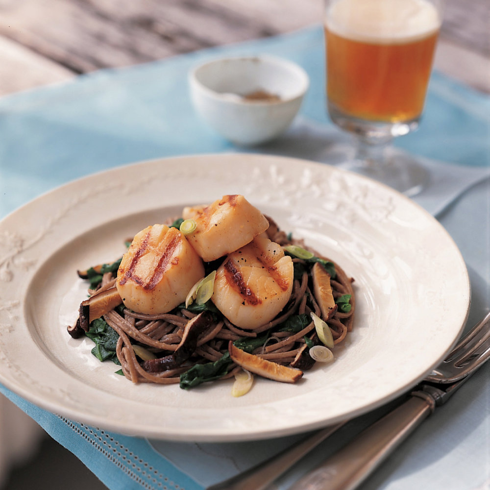 Soy-Ginger Grilled Scallops