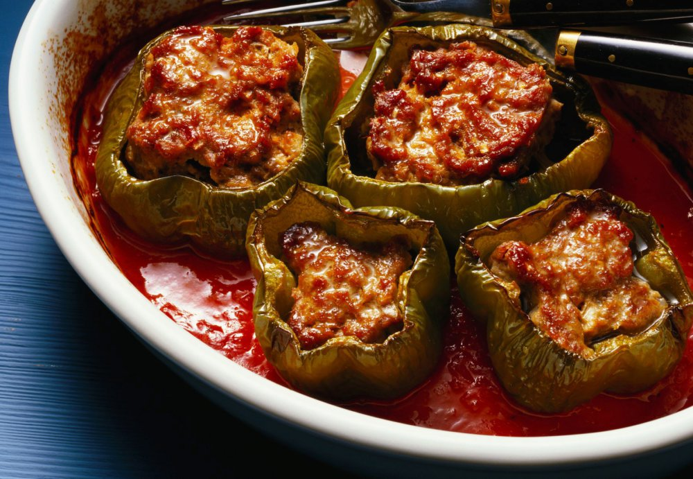 Ness's Slow Cooker Stuffed Peppers