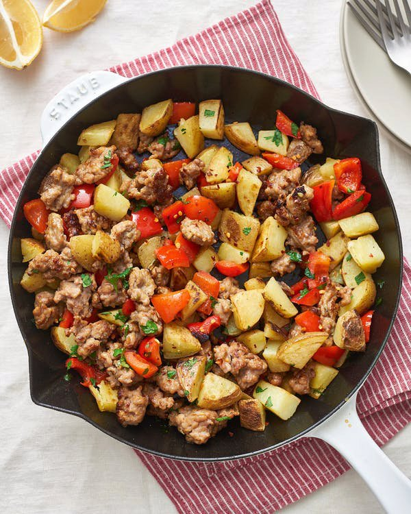 Fried Potatoes and Sausage Skillet
