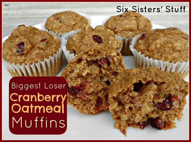Biggest Loser's Cranberry Oatmeal Muffins