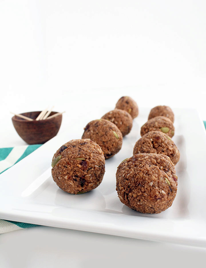 Cacao Plantain Rice Balls with Pepitas