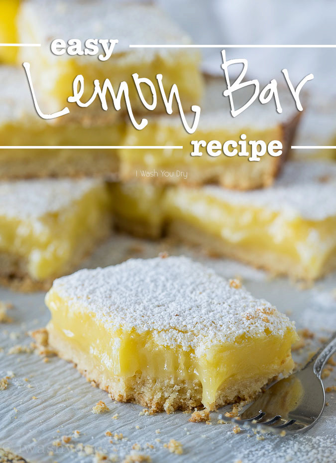 Easy Lemon Bar Recipe