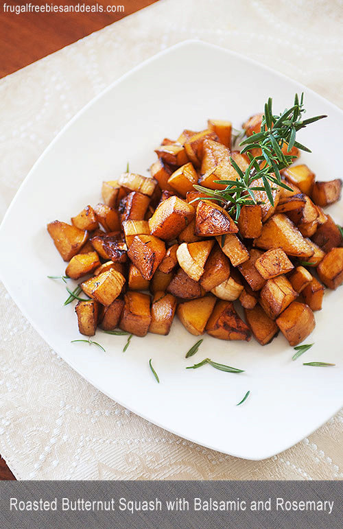 Roasted Butternut Squash with Balsamic and Rosemary