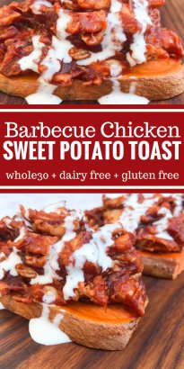 Barbecue Chicken on Sweet Potato