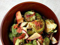 Brussels Sprouts with Bacon and Apple