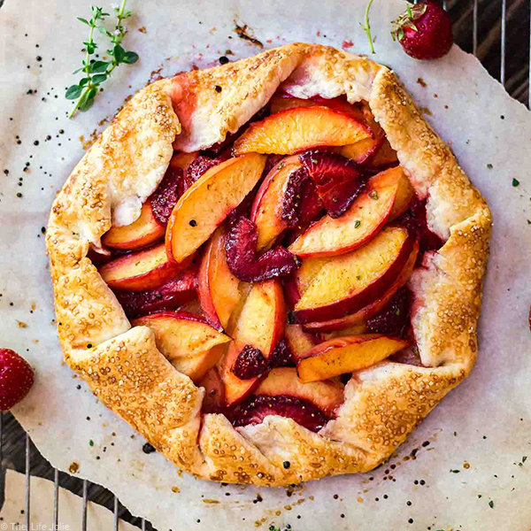 Nectarine and Strawberry Galette with Thyme