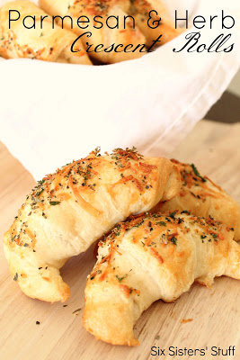 Parmesan and Herb Crescent Dinner Rolls Recipe