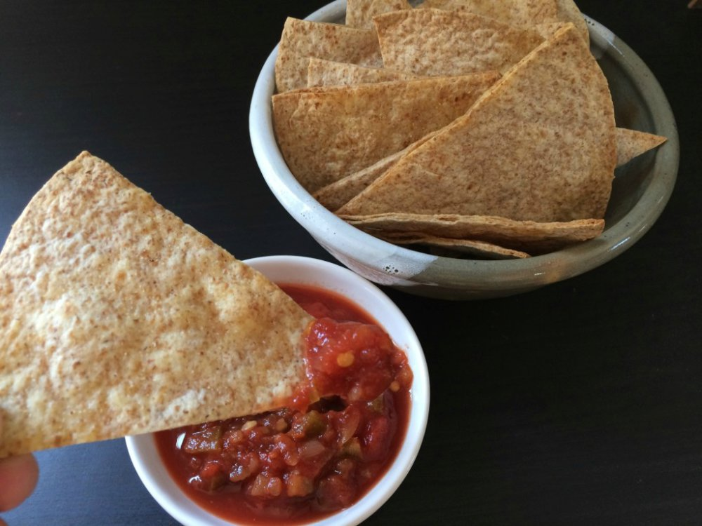 Homemade Whole Wheat Tortilla Chips