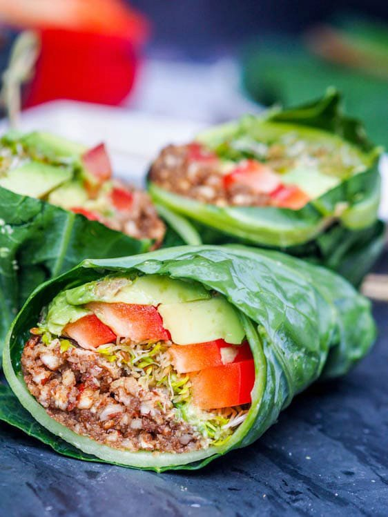 Raw Vegan Recipes - Collard Wraps