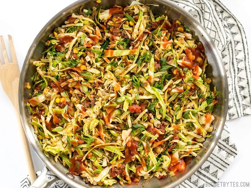 Southwest Beef and Cabbage Stir Fry