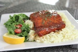 Honey Teriyaki Baked Salmon Recipe