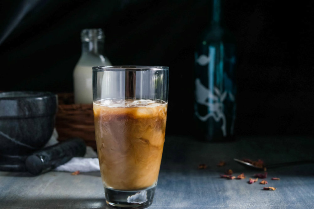 Rose Pistachio Iced Coffee
