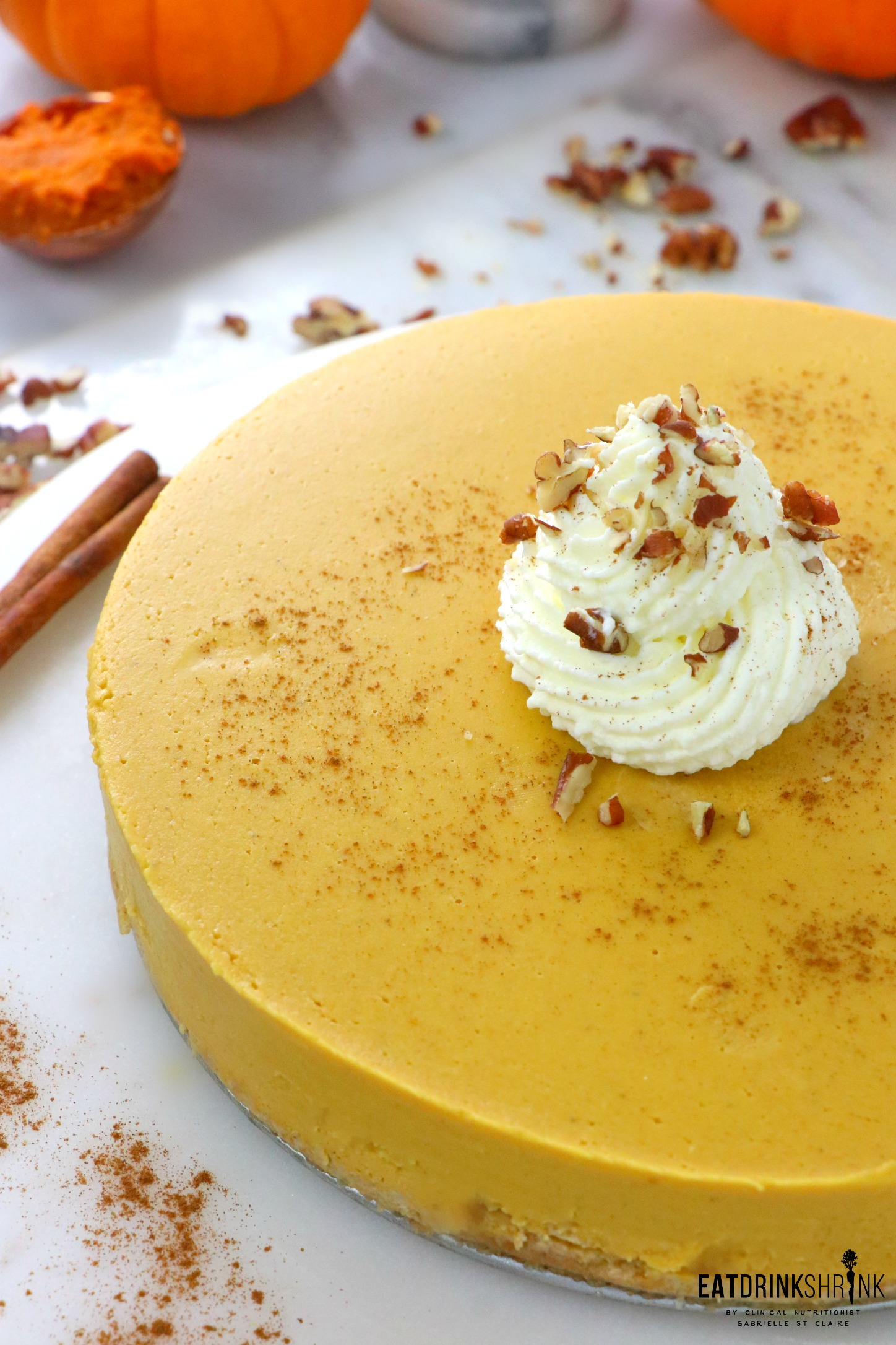 Vegan No Bake Pumpkin Cheesecake