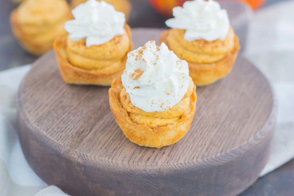 Whipped Pumpkin Pie Bites