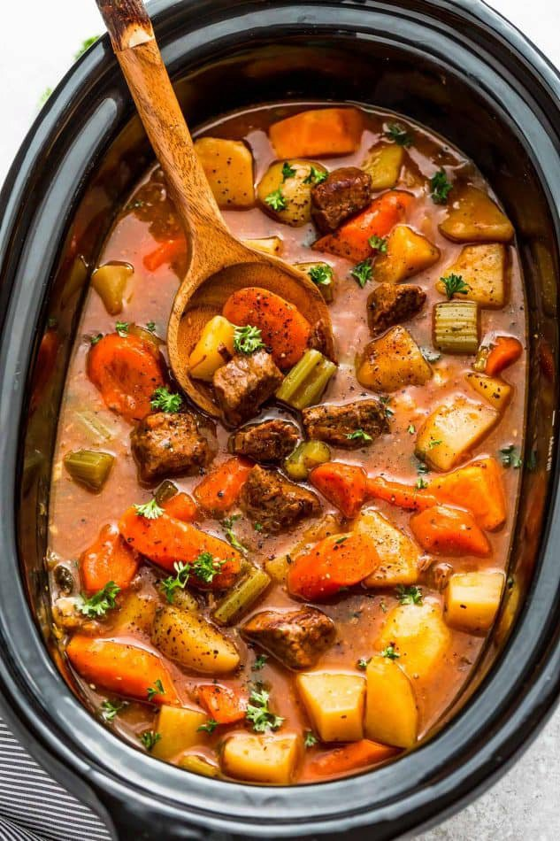 Slow Cooker Homemade Beef Stew + RECIPE VIDEO
