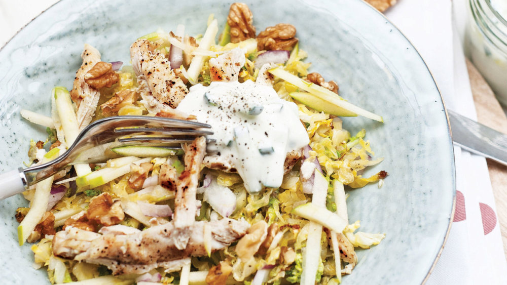 Brussels Sprouts Salad with Chicken