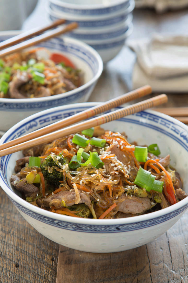 Korean Beef and Vegetable Noodle Bowl