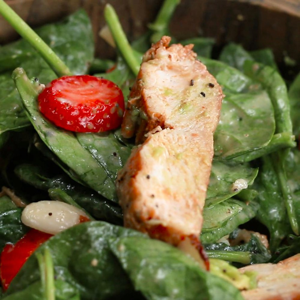 Strawberry Poppy Seed Salad With Grilled Chicken