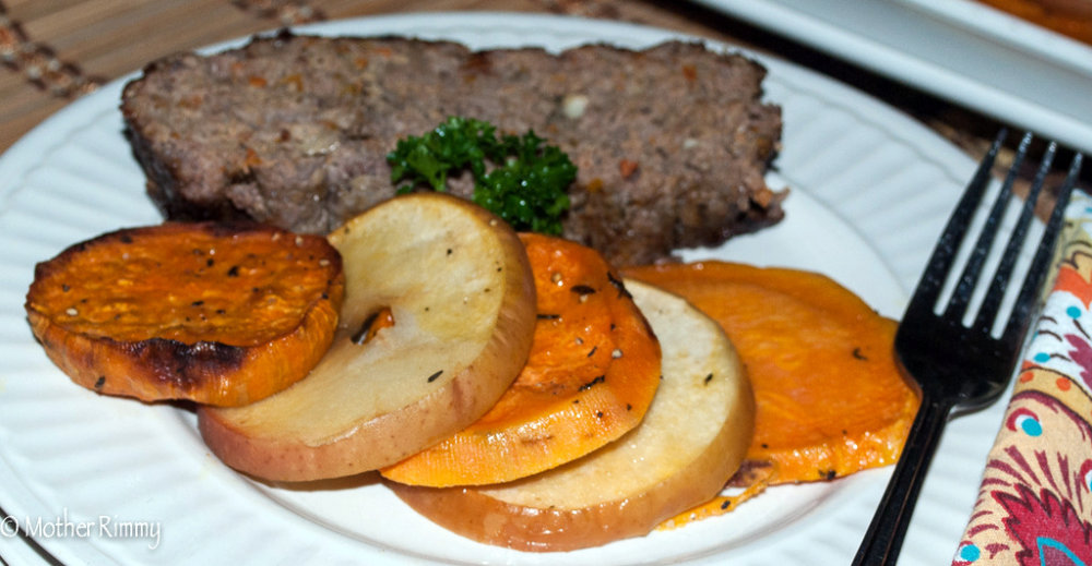 Meatloaf with Mushrooms, Carrots and Peppers