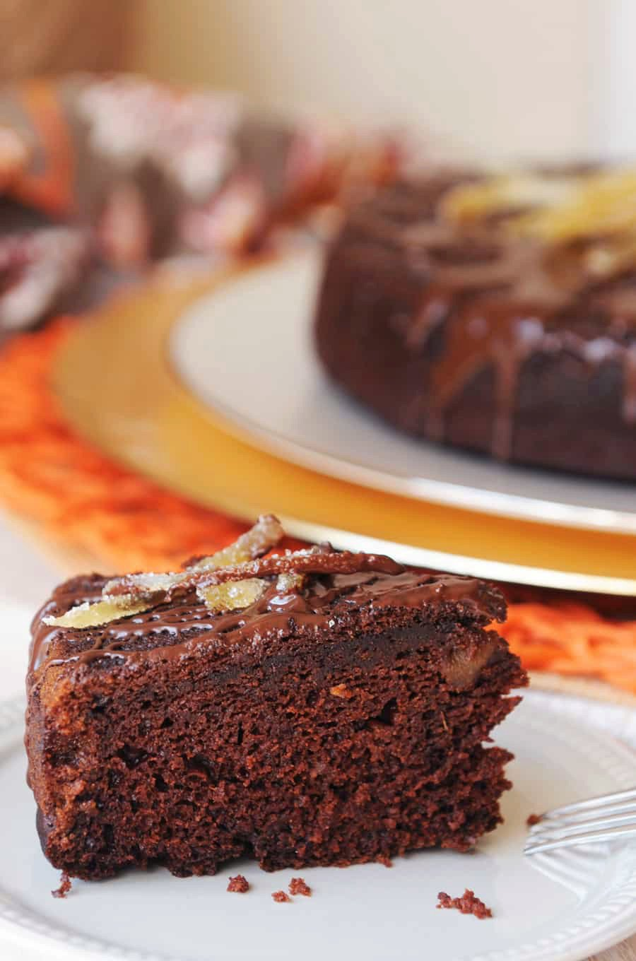Pumpkin Chocolate Cake with Ginger