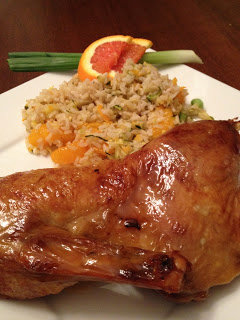 Crispy Orange Glazed Duck