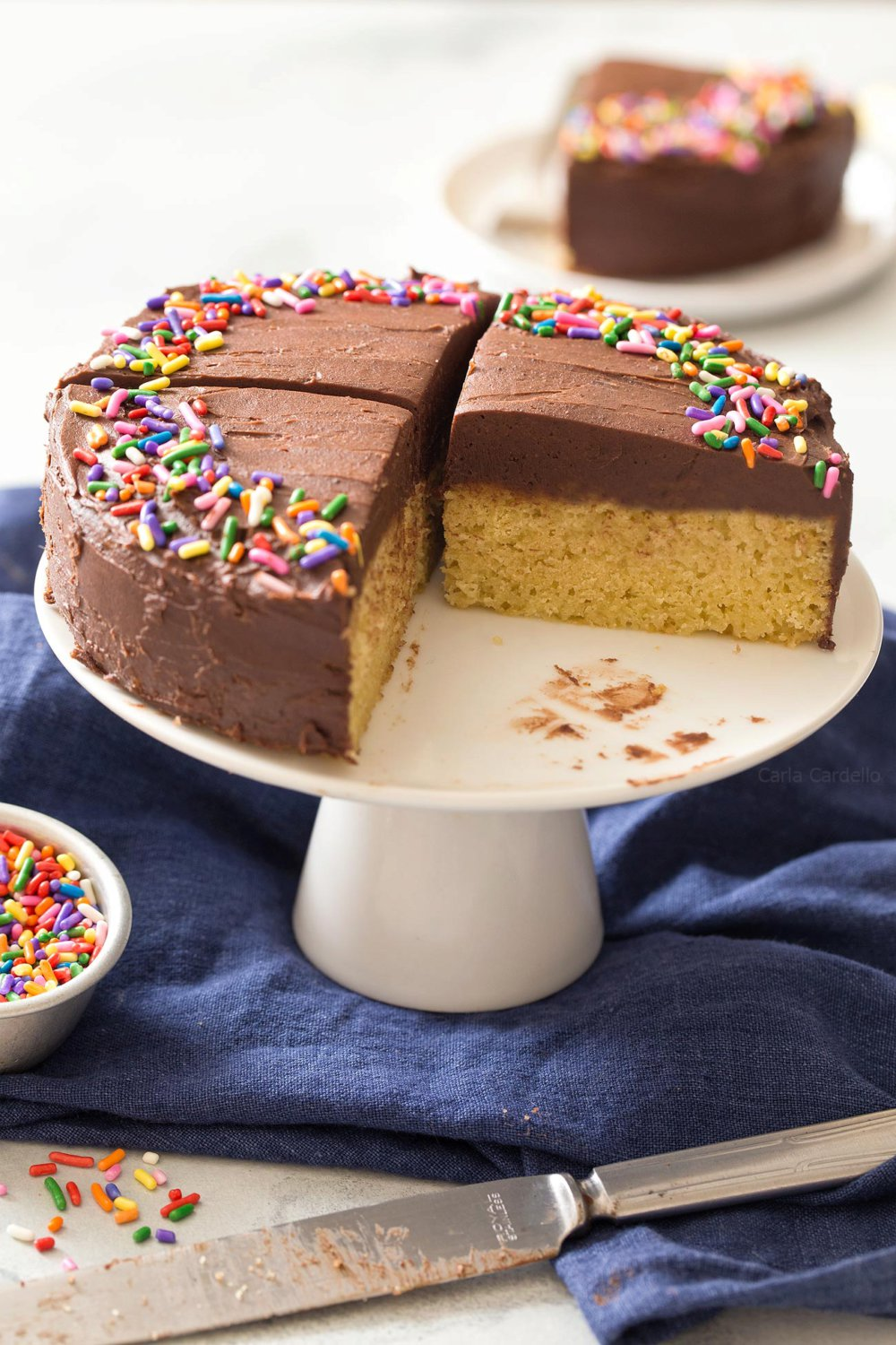 Small 6 Inch Yellow Cake For Two