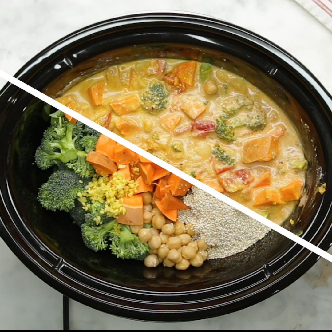 Slow Cooker Coconut Curry Recipe by Tasty