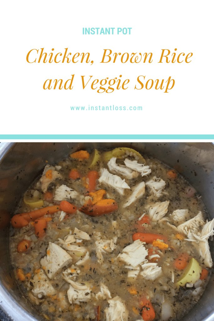 Chicken, Brown Rice, and Veggie Soup