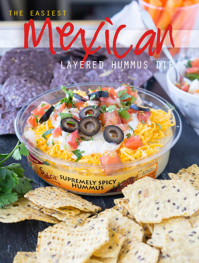 Easy Mexican Layered Hummus Dip