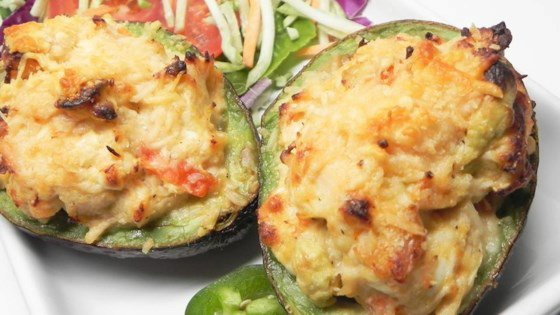 Chicken Stuffed Baked Avocados