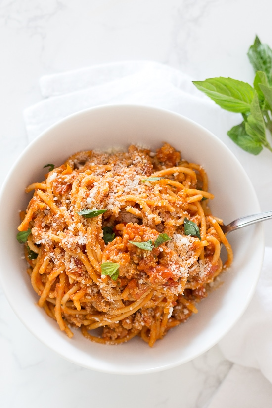 Instant Pot One-Pot Spaghetti with Meat Sauce