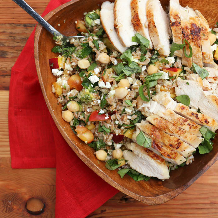 Farro Herb Salad with Chicken