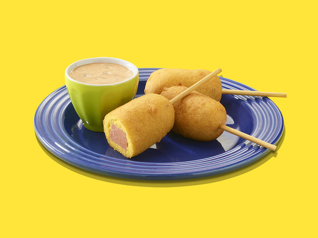 SPAM® Corn Dogs with Barbeque Thousand Island Dressing
