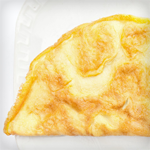 Cheddar Omelet with Sautéed Onions