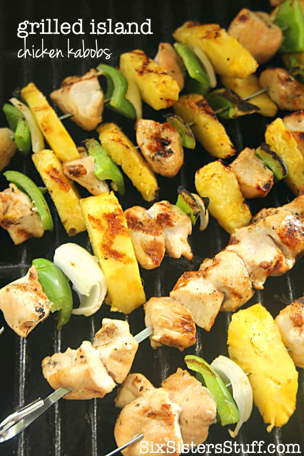 Grilled Island Chicken Kabobs