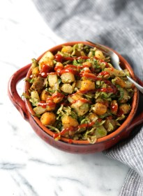 Brussels Sprout Hash with Butternut Squash and Potatoes