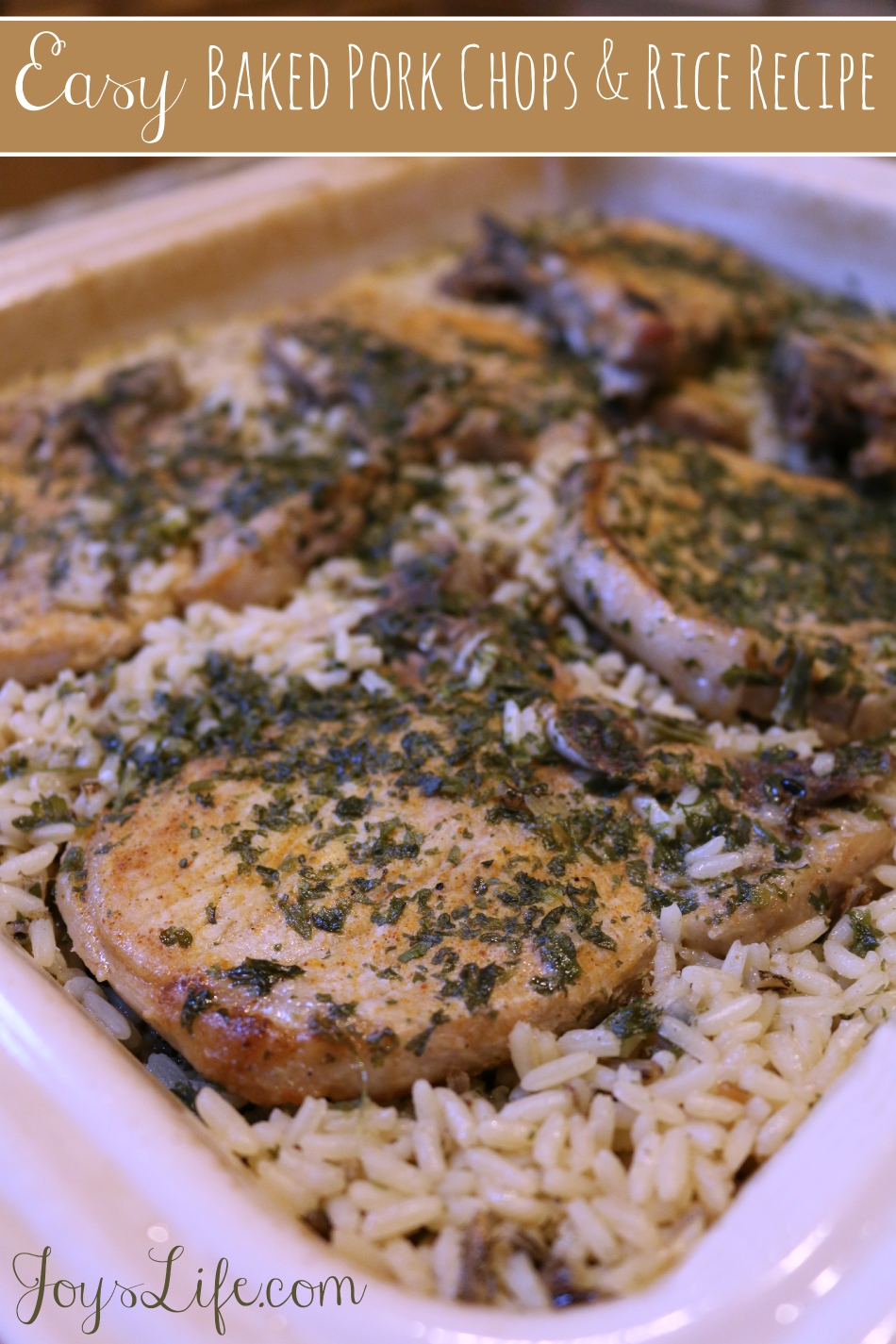 Easy Baked Pork Chops and Rice