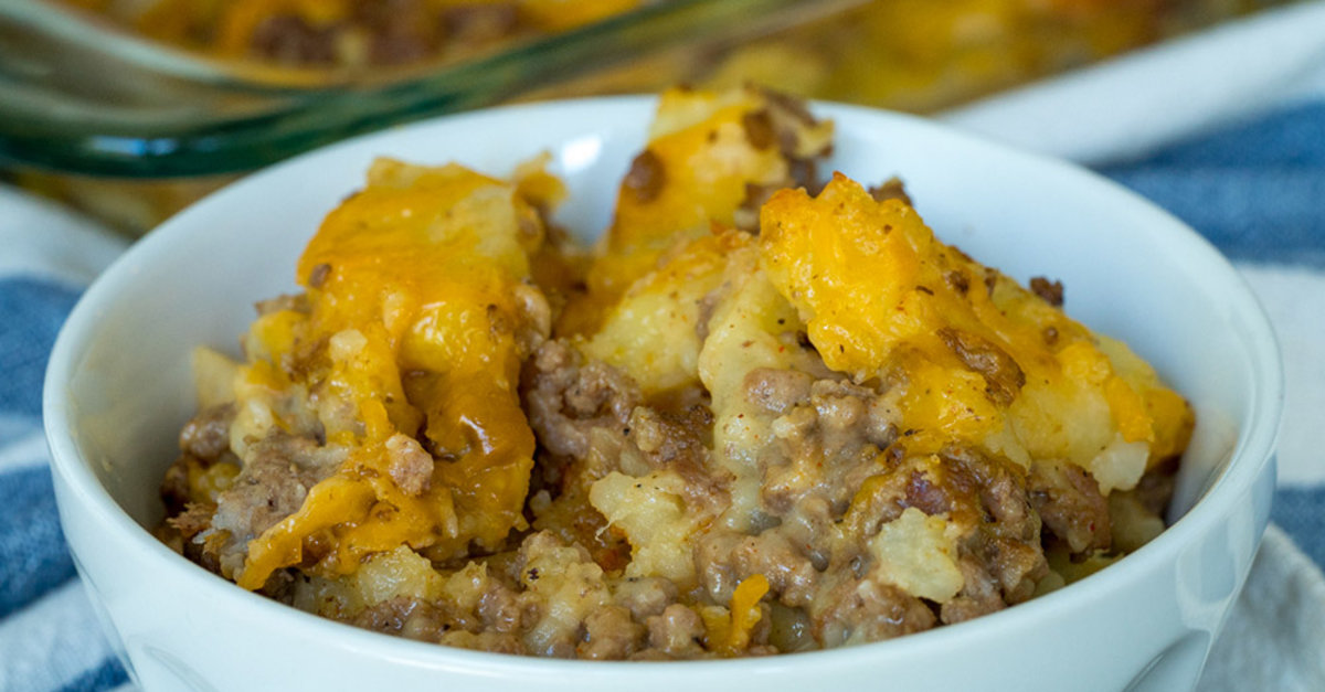 Cheesy Beef And Potato Casserole