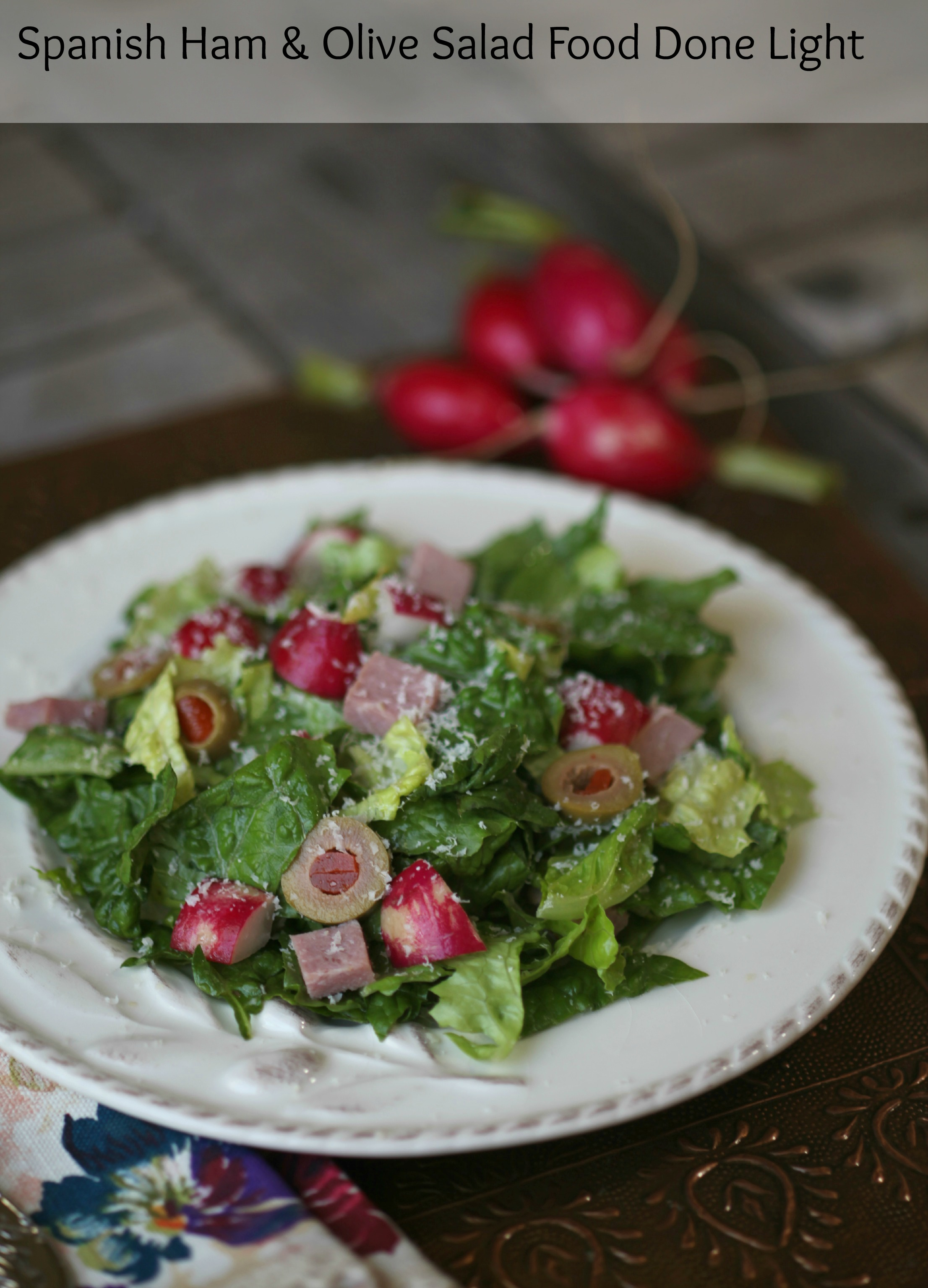 Spanish Salad with Ham and Olives